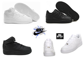 Wholesale Shoes - nike-mens-airforce1-bw - Mens Sizes 8-12
