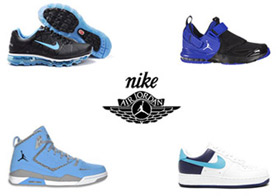 Wholesale Shoes - nike-jordan-mens-premium - This lot contains: Nike Airmax2011; AirForce1; and AirJordans